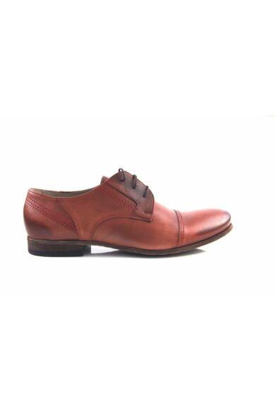 DOMENO valódi bőr elegáns férfi félcipő, piros, DOM291