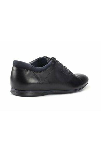 DOMENO valódi bőr elegáns férfi félcipő, fekete, DOM333