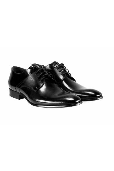 DOMENO valódi bőr alkalmi férfi cipő, fekete, DOM393
