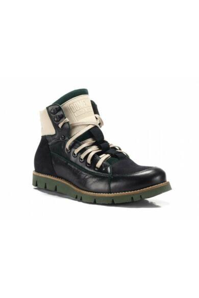 DOMENO valódi bőr sneakers, fekete, DOM400