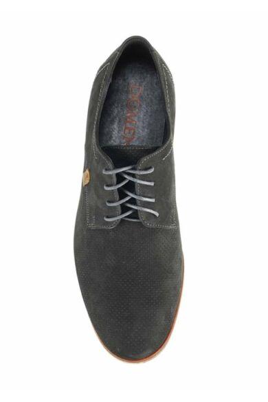 DOMENO hasított bőr elegáns férfi félcipő, fekete, DOM525