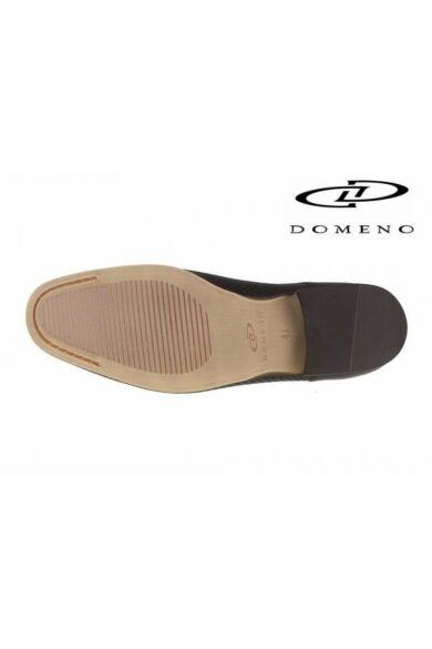 DOMENO valódi bőr elegáns férfi félcipő, barna, DOM554