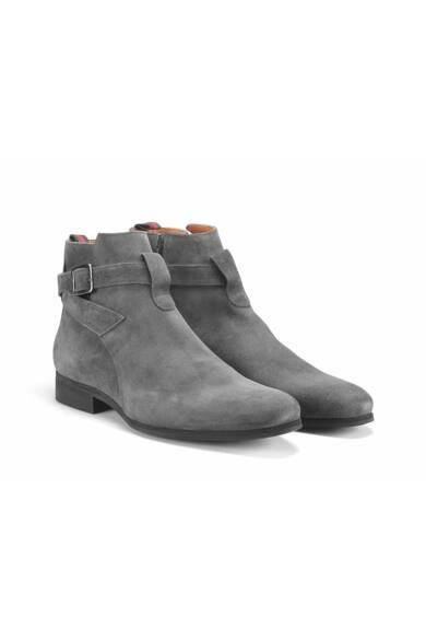 Ambitious velúr elegáns magas szárú férfi cipő, szürke, DOM65