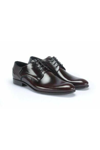 DOMENO valódi bőr alkalmi férfi cipő, bordó, DOM91
