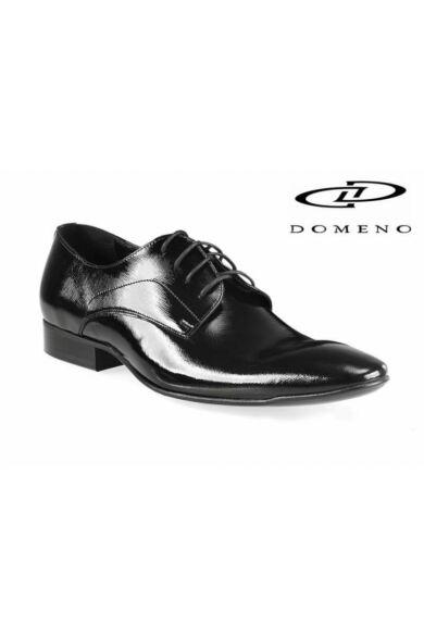 DOMENO valódi bőr alkalmi férfi cipő, fekete, DOM950
