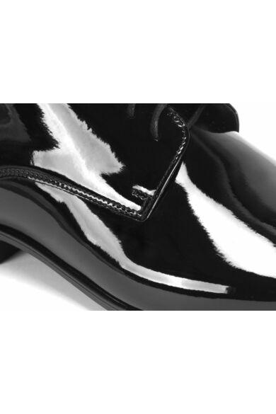 DOMENO lakozott bőr alkalmi férfi cipő, fekete, DOM9