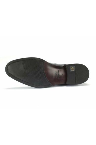DOMENO valódi bőr alkalmi férfi cipő, fekete, DOM992