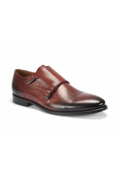 DOMENO valódi bőr alkalmi férfi cipő, bordó, DOM996