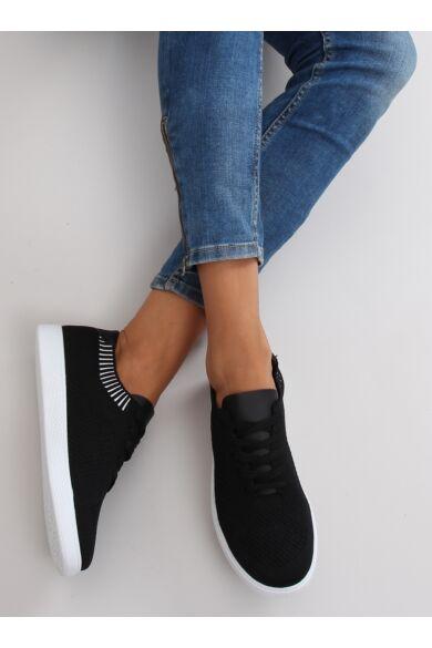 Női utcai sportos cipő (lz-9826), fekete
