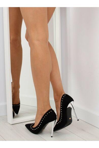 Női magassarkú (nf-04p), fekete