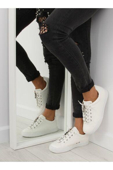 Női utcai sportos cipő (7209), fehér