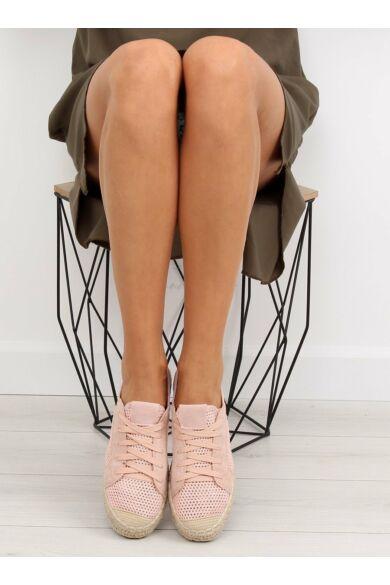 Női szandál (BB06P), rózsaszín, lapos talpú