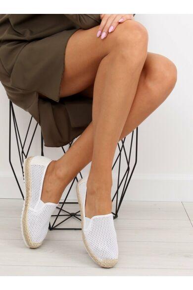 Női szandál (BB03P), fehér, lapos talpú