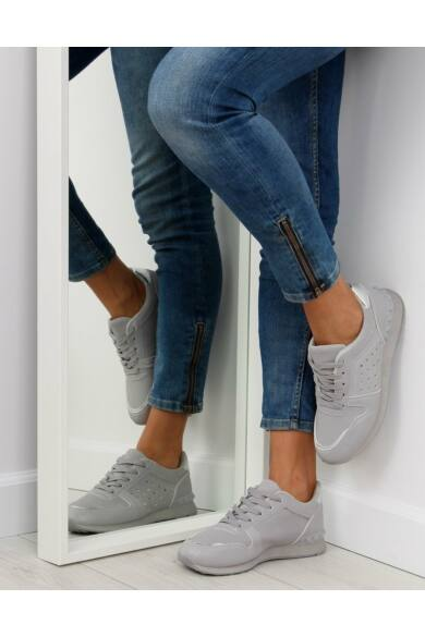 Női utcai sportos cipő (SU12P), szürke