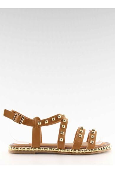 Női szandál (WL193), barna, lapos talpú