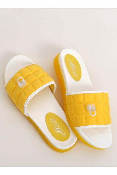 Női papucs, strandpapucs (G-338), sárga