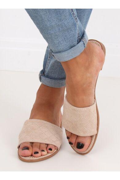 Női papucs, strandpapucs (Q-85), bézs