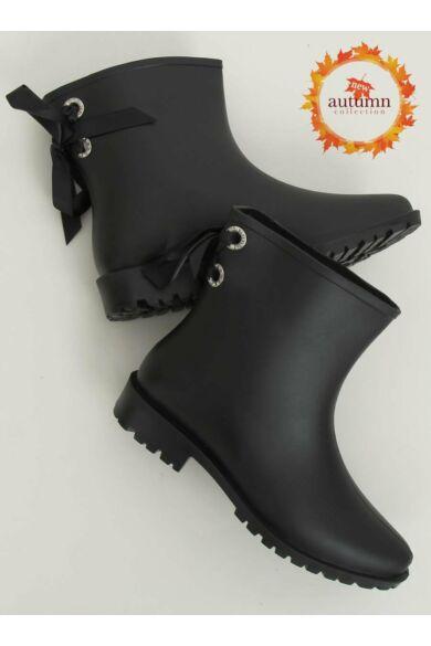 Női gumi gumicsizma (DC12), fekete