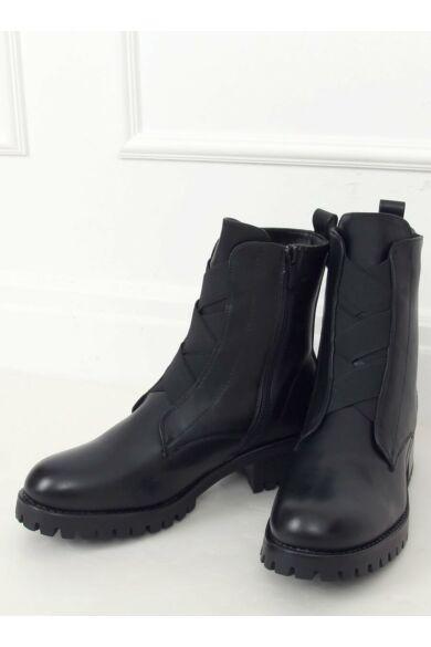 Női bokacsizma (0-366), fekete