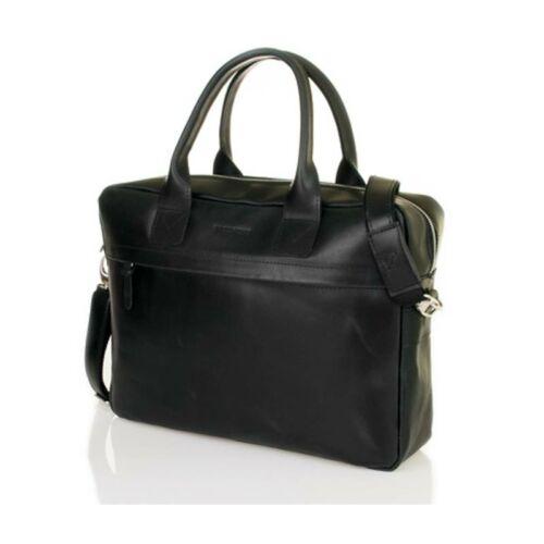 Brodrene elegáns férfi laptop táska bőrből fekete - Laptoptáska 0076ade38d