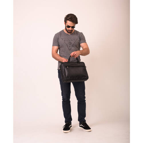 McKlein Bronzeville férfi bőr laptop táska fekete