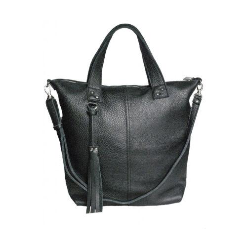 6b0e392cc151 Skinissimo női bőr táska fekete - Városi bőrtáska