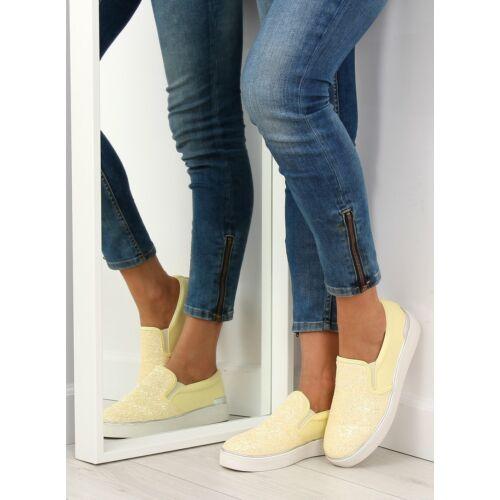 Női utcai sportos cipő (788), sárga