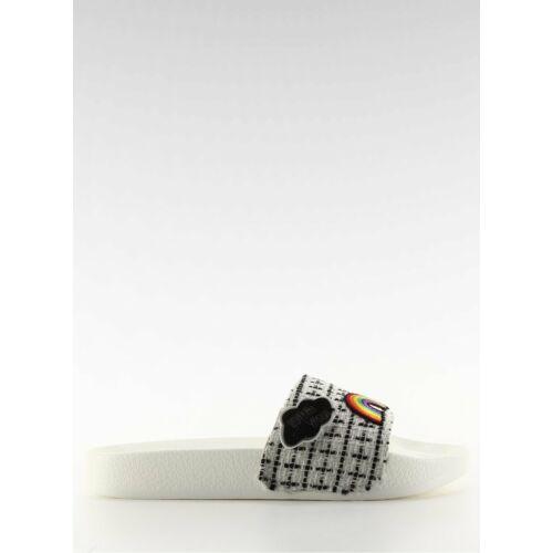 Női utcai papucs (8228), fehér, klasszikus