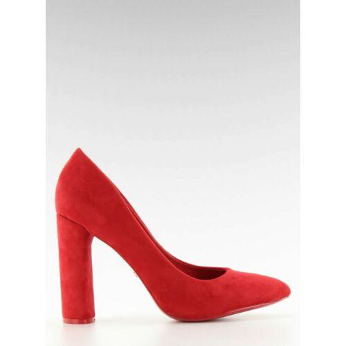 Női magassarkú (le027p), piros, elegáns