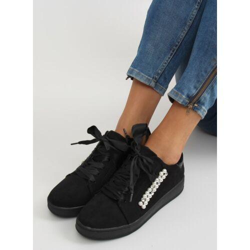 Női utcai sportos cipő (7173), fekete