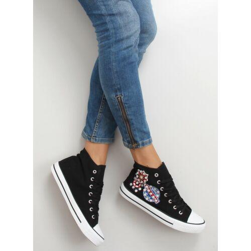 Női utcai sportos cipő (bl101p), fekete