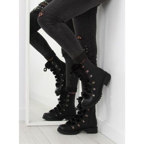 Női bokacsizma (K90), fekete, hétköznapi