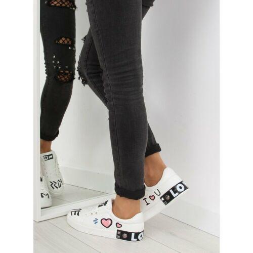 Női utcai sportos cipő (T302), fehér