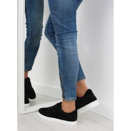 Női utcai sportos cipő (NB172), fekete