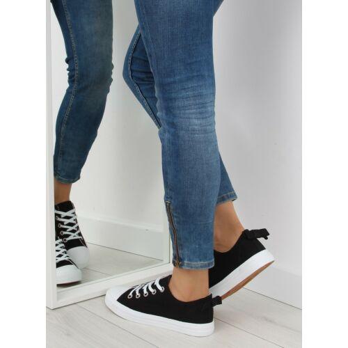 Női utcai sportos cipő (8935), fekete