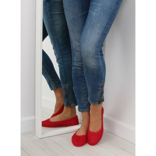 Női balerina (JX56), piros