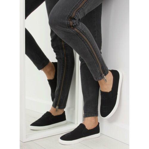 Női utcai sportos cipő (BL126P), fekete