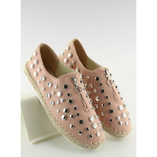 Női szandál (9039-28), rózsaszín, lapos talpú