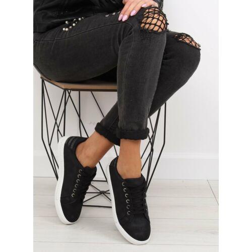 Női utcai sportos cipő (SU09p), fekete