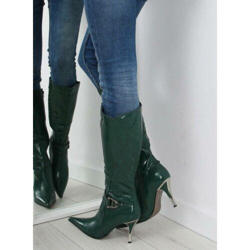 Női klasszikus csizma (5137-73V), zöld