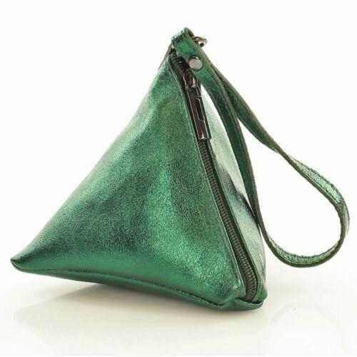 182250006e Creazioni in pelle Női borítéktáska (l83e), zöld - Borítéktáska