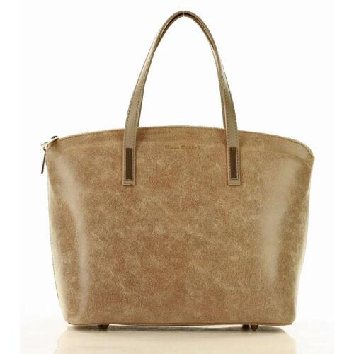 MAZZINI Női klasszikus táska (380a), világos bézs