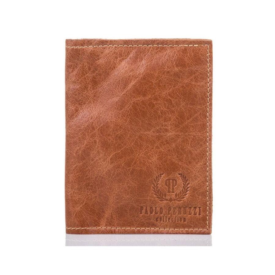 Paolo peruzzi vékony bőr pénztárca világos barna - Férfi pénztárca 7909a3b062